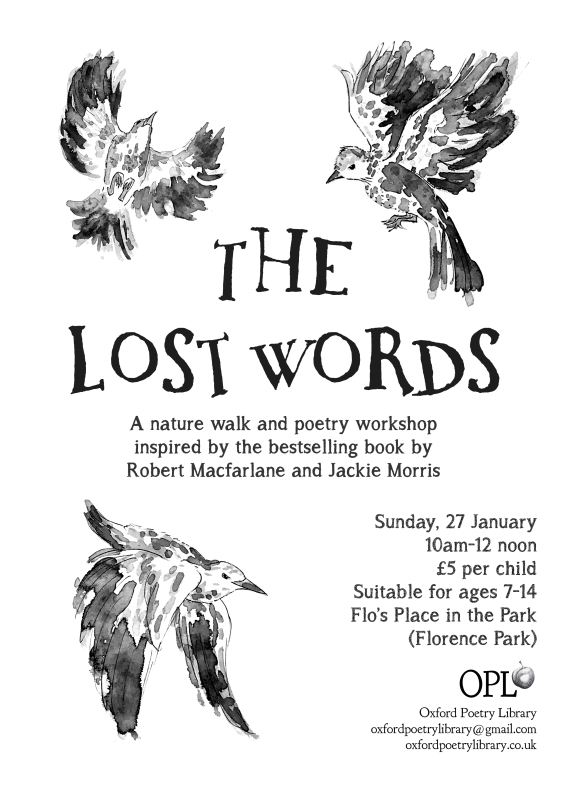 Lost words poster flyer