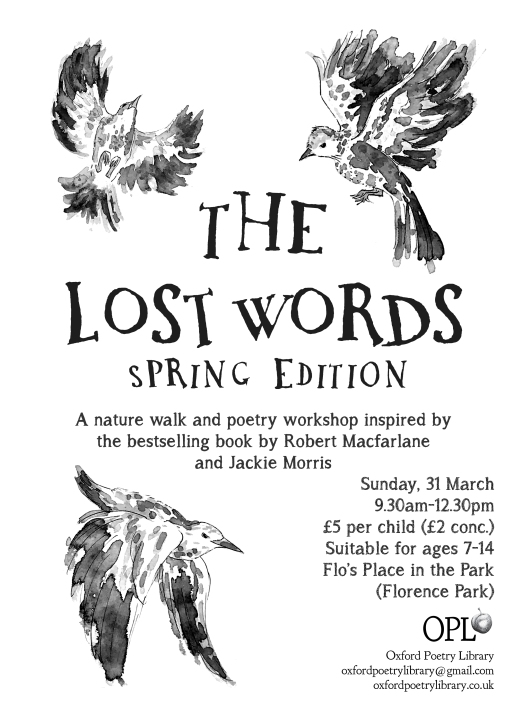 Lost words spring poster flyer